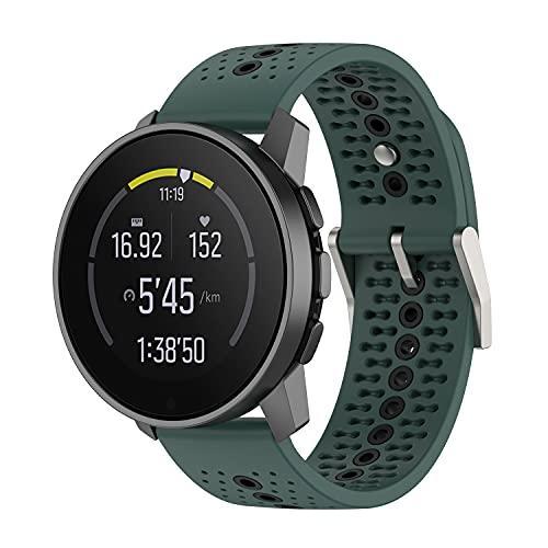 BoLuo 22mm Cinturini per Suunto 9 Speak,Cintura Ricambio,Cinturino Pelle per Cinturino Sportivo Cinturino per Huawei Watch GT2 Pro/Watch GT 42mm/46mm/Huawei Watch 3/Watch 3 Pro Watch (verde)
