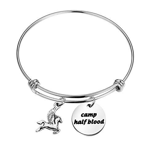 Camp Half Blood Bracelet Flying Horse Charm Bracelet Percy Jackson Jewelry Gift for Family Mythology Movie Gift (bracelet)