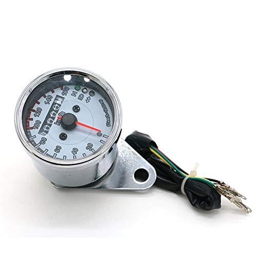 YUNJINGCHENMAN Motocicleta Universal del odómetro del velocímetro calibrador del Metro de Velocidad Dual con Pantalla LCD Indicador de la Vendimia Modificación de Accesorios (Color : Gray)