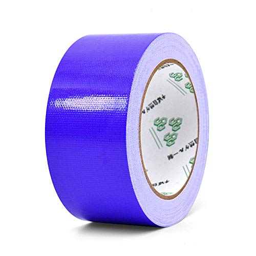 asdasd 10m*50mm Color Base Adhesive Tapes Fabric Strong Waterproof Tape No Trace High Viscosity Carpet Floor Tapes DIY Decoration-navy blue