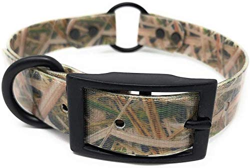 """Camo Hunting Dog Collar with Heavy Duty Center Ring 
