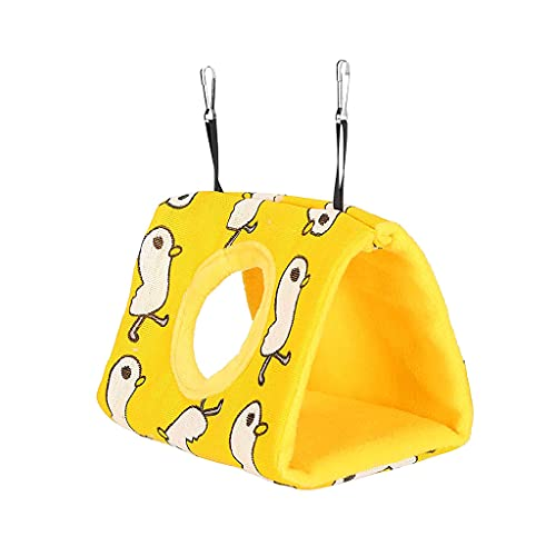 gszfsm001 Warm Bird's Nest House Shelter Hanging Cabin Hammock Cage Accessories Plush Stash For Hamster Small Animal Parrot S/M/L
