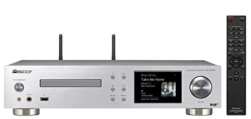 Pioneer NC-50DAB(S) All-in-One Hifi System (CD, DAB+, Verstärker, D/A-Wandler), WLAN, Bluetooth, USB, Streaming, Musik Apps (Spotify, Deezer u.a.), Internetradio, 50 W/Kanal, Multiroom, Silber
