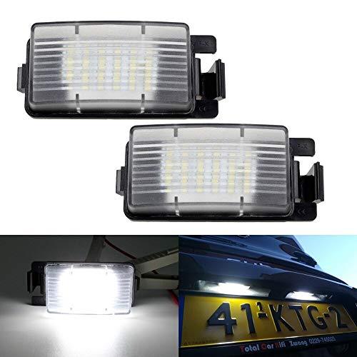 Luces de matrícula de coche 2pcs Blanco LED Número Lámpara de Luz Lámpara de Luz Compatible con Nissan 350Z 370Z GT-R Infiniti G35 G37 Universal ( Color Temperature : 6500K , Emitting Color : White )