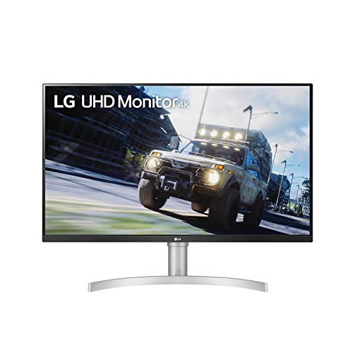 """LG 32UN550-W 32-Inch UHD (3840 x 2160) VA Monitor with HDR 10, AMD FreeSync and Itle/Height Adjustable Stand (31.5"""" Diagonal), Silver"""