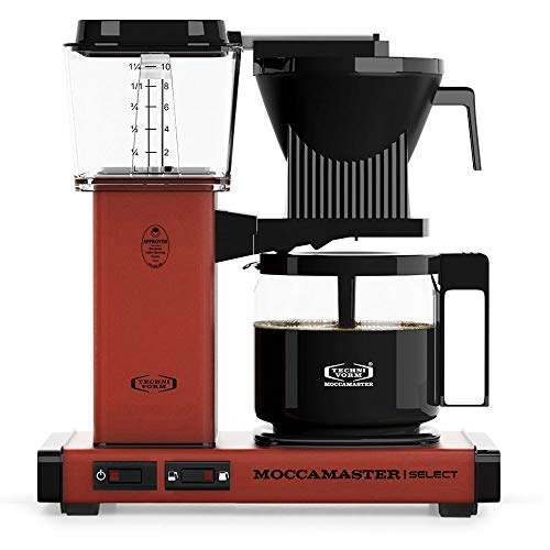 Moccamaster Filter Kaffeemaschine KBG Select, 1.25 Liter, 1520 W, Brick Red