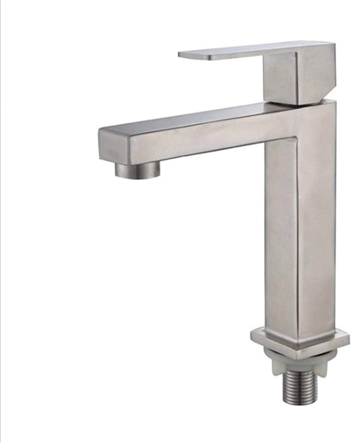 Water Tapdrinking Designer Arch304 Stainless Steel Single Cold Basin Faucet Single Hole Basin Balcony Single Faucet