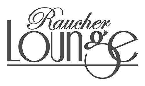 Wandtattoo Spruch Raucher Lounge Raucherraum Raucherbereich Deko Wanddeko