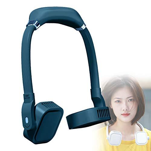 YONGCHY Ventilador Personal, Manos Libres Mini Ventilador USB Recargable Ventilador Personal Portátil, 100% Seguro Sin Cuchilla Ventilador De Mano Portátil Recargable,Verde