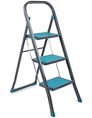 Beldray LA024510TQ Trapladder voor het huishouden met 3 treden, turquoise, staal, 3 stappen