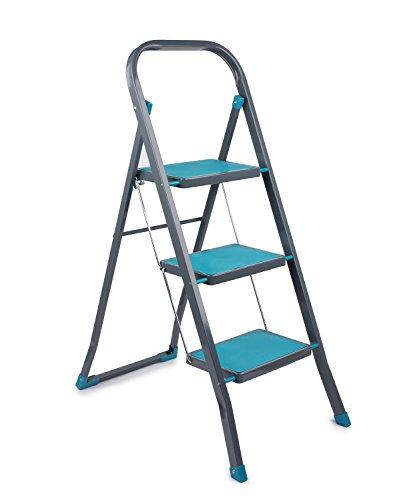 Beldray LA024510TQ 3 Step DIY Hobby Stepladder, Turquoise