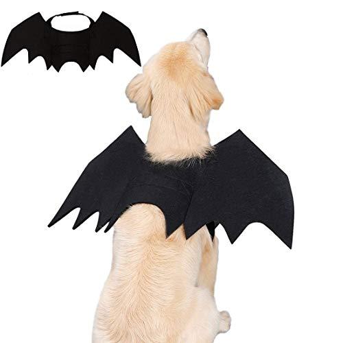 CZNDY Alas de Perro, Disfraz de Perro de murciélago de Halloween/Disfraces de Halloween para Mascotas para Perros medianos Grandes decoración de Cosplay(3 tamaños, Apto para Perros y Gatos) (L)