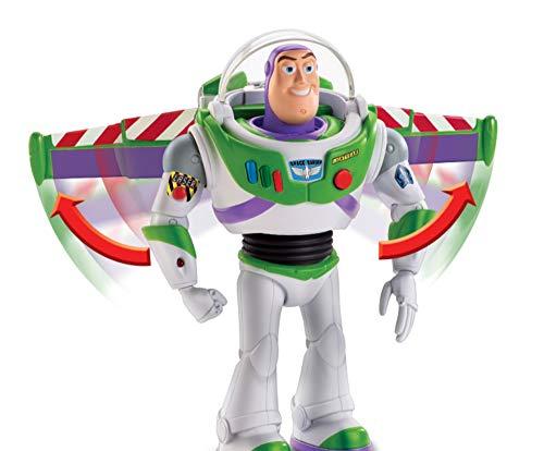 Toy Story - Disney Pixar Buzz Lightyear Missione Speciale Personaggio Parlante da 18 cm, Ali che si Aprono, Giocattolo per Bambini di 3+ Anni, GGH44
