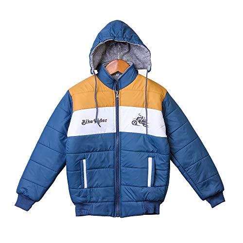 Trendy World Boy's Polyester Hooded Sweatshirt (Pack of 1) (BOSYJKT_BIKE_BLUE_22SIZE_Blue_7-8 Years)
