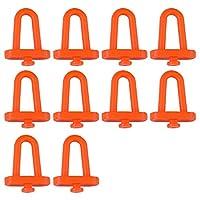 SNOWINSPRING 10個 壁掛け、ハードウェアツール、吊りプレート、穴プレートフックパーツ、収納ボックス、ガレージユニット棚ツール