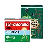 サンクロレラ サン・クロレラA 顆粒 60袋 1箱 サン・ウコギ 900粒 1箱セット