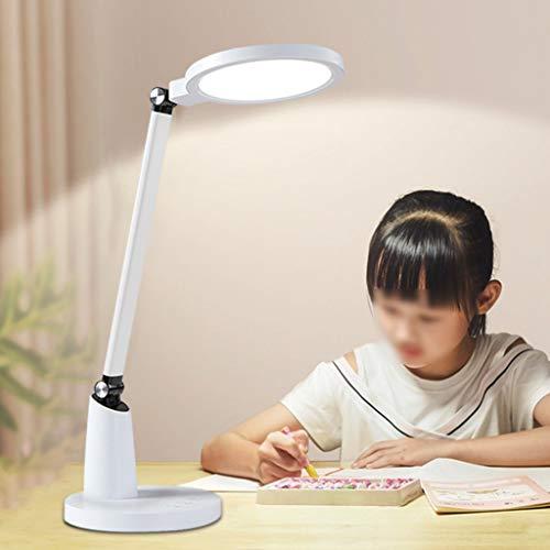 Lámpara de escritorio LED Lámpara de Escritorio LED Regulable 12W, Lámpara Plegable para El Cuidado De Los Ojos Control Táctil con Temporizador de Apagado Automático con Adaptador Lámparas de Mesa Com