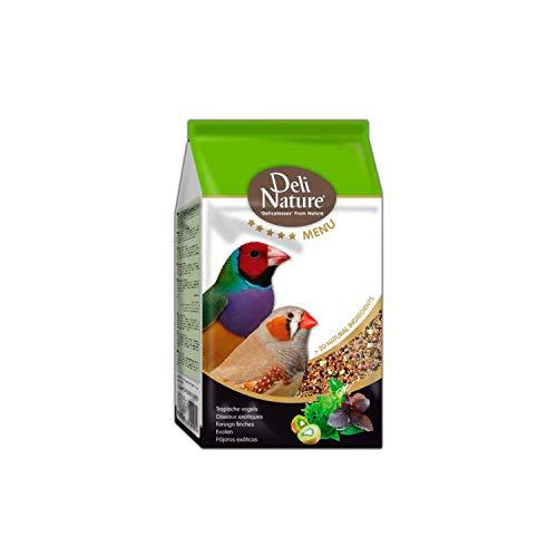 DELINATURE Mixtura para Pájaros Tropicales Menú 5*, 800 g, Pájaros