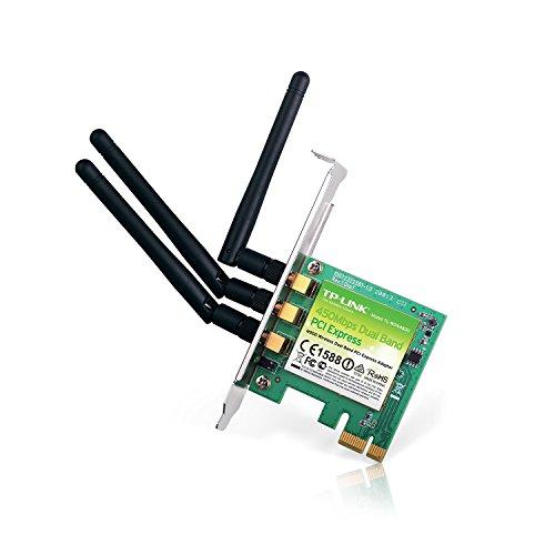 TP-LINK TL-WDN4800 - Tarjeta de Red PCI Express N900 (WiFi, 2.4 G 450 Mbps + 5 G 450 Mbps, 3 años de garantía, Alta sensibilidad, PCI-E)