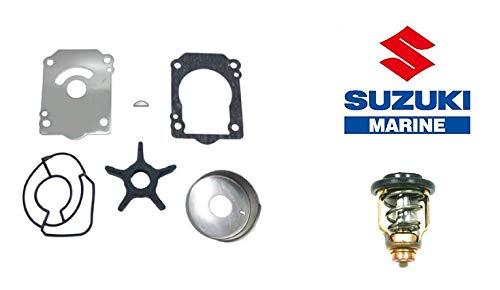 Suzuki OEM Water Pump Repair Kit 17400-96J02 with Thermostat 17670-90J20 (50C) for 2015-2019 Suzuki DF200A Outboard Motors