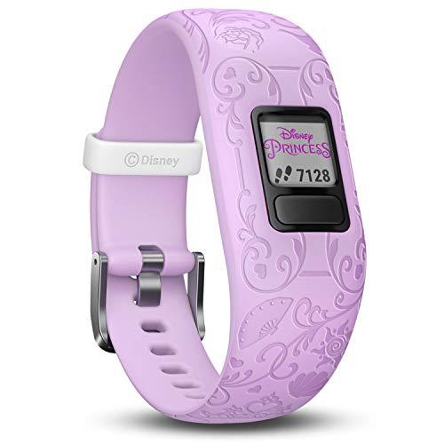 Garmin vívofit jr. 2 digitale, wasserdichte Action Watch im Disney Prinzessinnen Design für Mädchen ab 4 Jahren, mit spannender Abenteuer-App, Schrittzähler, violett, Batterielaufzeit bis zu 1 Jahr