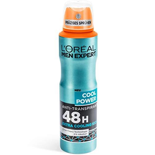 L'Oreal Hommes Expert Déodorant en Spray Cool Puissance, 150 ML (1er Paquet)