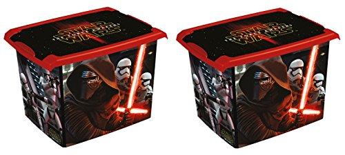 2 x boîte à jouets jouet Boîte Fashion Box Star Wars 20 L
