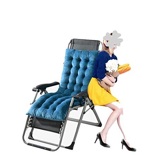 MRZZ Lounge stoel kussen, tuin zon ligstoel kussen zitting bed dikke gewatteerde buiten Patio Recliner relaxer stoel cover,160 * 50 * 10cm.