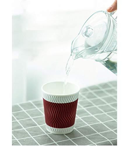Lucky papieren beker, wegwerpbeker van papier, dubbele beker van kraftpapier (zonder deksel), koffiebeker van papier, thee, cola drank (2 kleuren, 20 per verpakking)