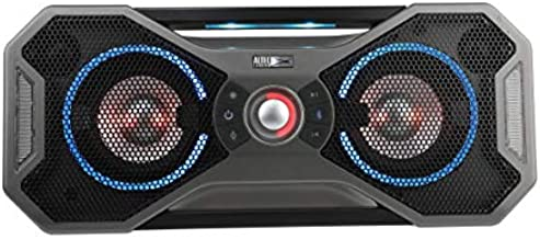 Altec Lansing Mix 2.0 - Bluetooth Speaker, Wireless, Waterproof, Floatable, Portable, Speakers, Loud Volume, Strong Bass, Rich Stereo System, Microphone, 100 ft Wireless Range, IP67, Black With Lights