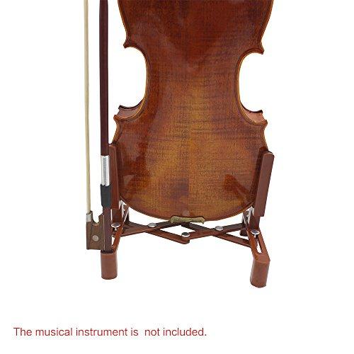 Fesjoy Violinen Halter Violinen Ständer Universal verstellbaren Ständer Halter für volle Größe 4/4 3/4 1/2 1/4 Geige Teil Zubehör Kunststoff klappbar Extended Portable-Schwamm-Pad