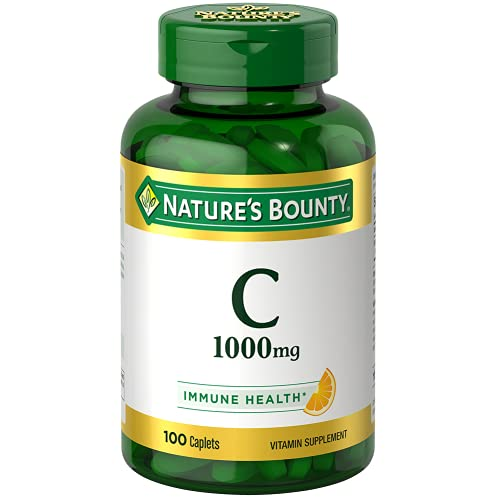 Vitamin C by Nature's Bounty for immune support. Vitamin C is a leading immune support vitamin, 1000mg, 100 Caplets