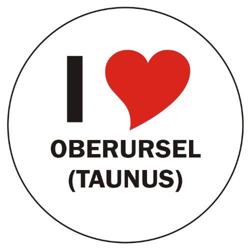 Aufkleber / Sticker / Autoaufkleber - I LOVE Oberursel (Taunus) - JDM / Die cut / OEM - Auto / Heckscheibe - aussenklebend, rund, Größe: 80mm