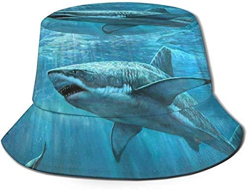 Unisex Acuarela pez japonés Carpa Koi Viaje Cubo Sombrero Verano Pescador Sombrero Sol-Animales Marinos Tiburones