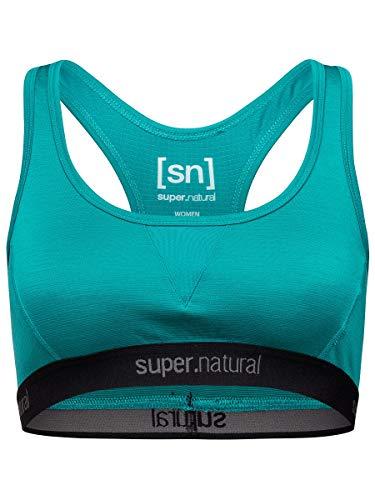 super.natural Damen Sport-BH, Mit Merinowolle, W SEMPLICE BRA 260, Größe: XL, Farbe: Hellblau