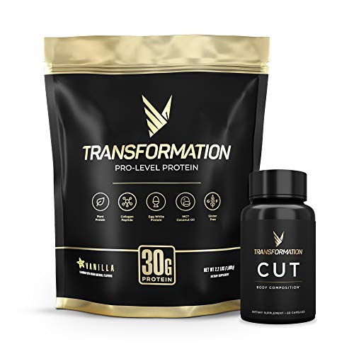 Ultimate Fit Kit Transformation Premium Protein Powder + Cut - Metabolism, Energy, Health & Fitness Support- 30g Protein & 60 Weight Loss Diet Pills - Supplement Combo Pack