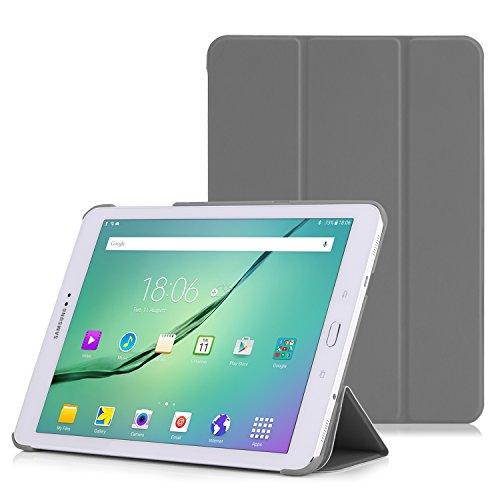"""MoKo Hülle Kompatibel mit Samsung Galaxy Tab S2 9.7, Ultra Slim Tasche Schutzhülle Schale Case mit Auto Sleep/Wake up Funktion und Standfunktion für Galaxy Tab S2 9.7\"""" Android 5.0 Tablet-PC, Grau"""