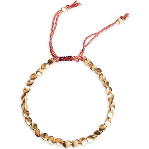 Tibetan Copper Bead Bracelet, Handmade Braided Buddha Bracelet Adjustable Colorful Thread Beaded Bracelet Ethnic Style Buddhist Lucky Rope Bracelet Apply to Women and Men