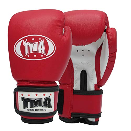 TMA Kids Boxing Gloves 4-oz Best for Kickboxing, Martial Arts, MMA, Muay Thai (6-oz)