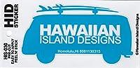 ハワイアン雑貨/ハワイ雑貨 ハワイアン ワーゲンバス ステッカー (D-スカイブルー) 【お土産】