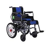 Wheelchair Silla de ruedas, silla de rehabilitación médica para personas mayores, personas mayores, sillas de ruedas eléctricas motorizadas plegables, palanca de mando de 360 °, potente silla de ru