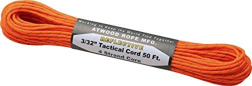 アトウッドロープ(Atwood Rope) 登山 アウトドア 万能ロープ タクティカルコード レフレクティブ ネオンオレンジ 太さ2.4mm 44015