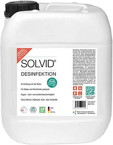Solvid Handdesinfektion 5l Kanister - ideal für gewerblichen Hygiene-Plan, fertige Desinfektionslösung zur sofortigen Anwendung als Nachfüllkanister