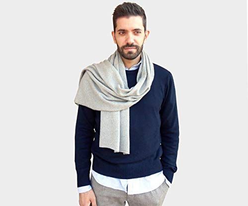 sciarpa 100% cashmere uomo, sciarpa uomo cm 45 x 190, sciarpe cachemire uomo, sciarpe uomo, cashmere uomo, cachemire uomo