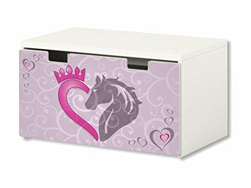 Caballo pegatina | pegatinas para muebles | BT15 | adecuado para el arcón de banco STUVA von IKEA para niños (90 x 50 cm) | Perfecto como arcón de juguetes y banco