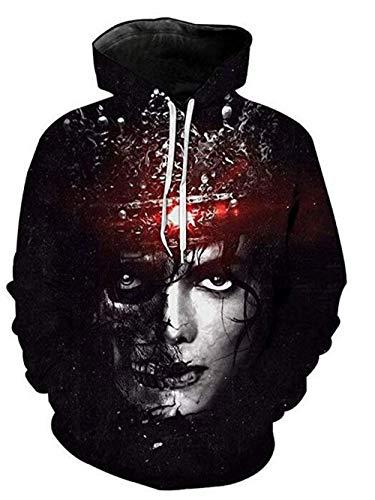 Michael Jackson Sweatshirt Hoodie 3D Digitaldruck Sweatshirt Hoodie Männer Sweatshirt Hoodie (S, Schwarz)