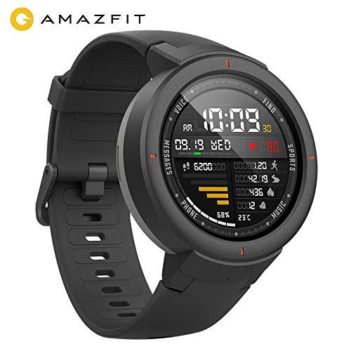 Amazfit Verge Smartwatch con Pantalla AMOLED de 1.3 Pulgadas, realiza Llamadas, Modo Deportivo múltiple, GPS Smart Watch versión Internacional