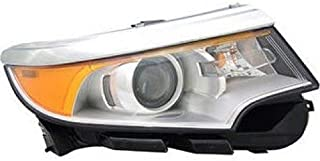 Go-Parts OE Replacement for 2011 - 2014 Ford Edge Front Headlight Assembly Housing / Lens / Cover - Right (Passenger) Side - (Limited + SE + SEL) BT4Z 13008 A FO2503291 Replacement For Ford Edge