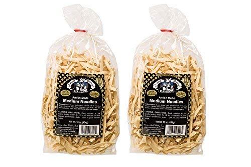 Amish Wedding Foods Medium Noodles 16 Oz Bags No Preservatives (Pack of 2)