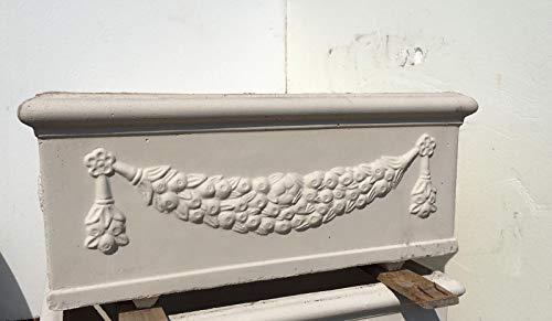 ARTISTICA GRANILLO FIORIERA in Cemento,Vaso, 100X45 H40 CM.